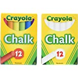 Crayola Non-Toxic White Chalk and Colored Chalk Bundle ()