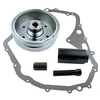 Crankcase Cover Gasket for Suzuki LTF 400 Eiger 2002-2007 OEM Repl.# 32102-38F00 // 32102-38F01 Kit Stator Improved Magneto Flywheel Regulator Rectifier