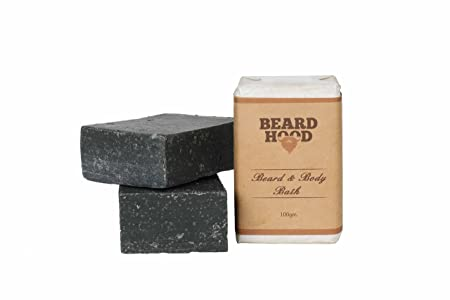 BeardHood Beard & Body Bath Soap - Activated Charcoal: Deep Cleansing 100g
