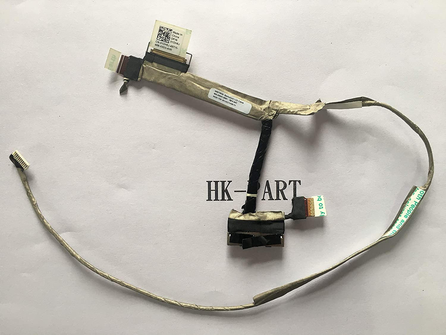 HK-PART Cable Replacement for Dell Inspiron 11-3147 11-3148 11-3152 LCD Cable Touchscreen 450.00K01.0001 DP//N 01DH6J