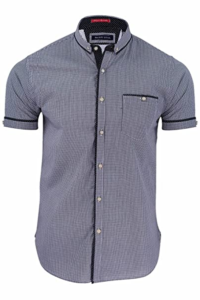 Azure Clothing Outlet - Camisa casual - para hombre Azul azul marino: Amazon.es: Ropa y accesorios