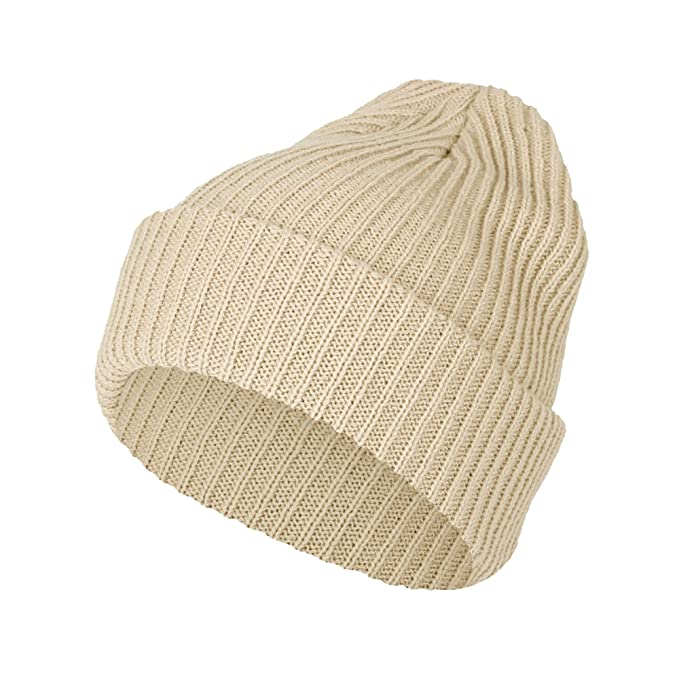 e84f8c7f5 WITHMOONS Ribbed Knit Beanie Winter Hat Slouchy Watch Cap GZ50019