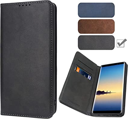 Samsung Galaxy Note8 Flip Case Cover for Samsung Galaxy Note8 Leather Mobile Phone Cover Card Holders Premium Business Kickstand Flip Cover