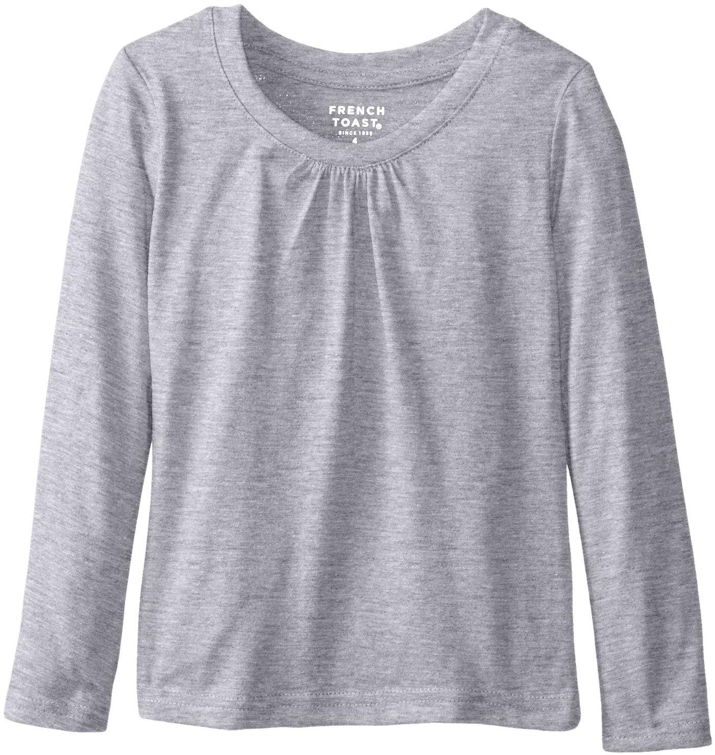 682e1e53fc3 French Toast School Uniform Girls Long Sleeve Crew Neck T-Shirt with ...