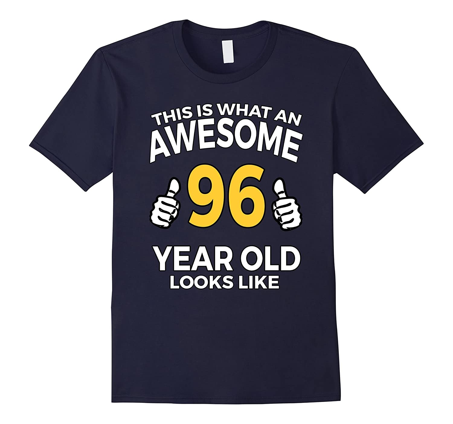96 Year Old Birthday Gifts T Shirt For A Senior Man Or Woman TH