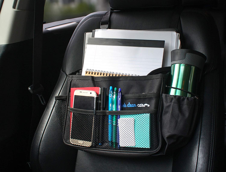 Truck Seat Organizer >> Amazon Com Think Clean Car Front Seat Organizer Black 13 8 X