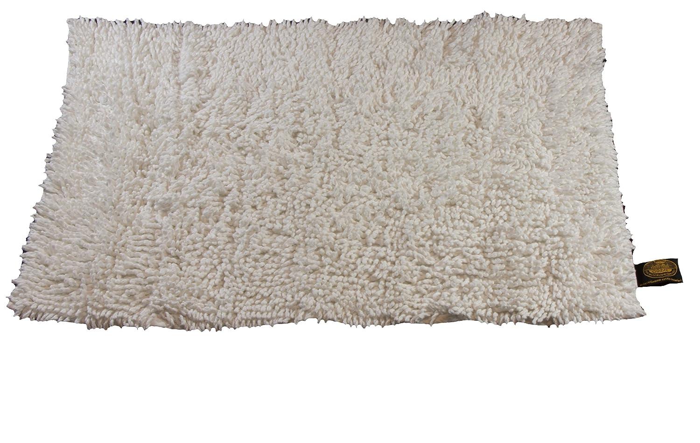 Gözze Teppich, 100% Baumwolle, Wollgarn-Hochfloroptik, 50 x 70 cm, Orange, 1010-0764-7 Gözze Teppich W.F. Gözze Frottierweberei