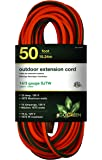 GoGreen Power GG-13850 - 14/3 50' SJTW Outdoor Extension Cord - Lighted End