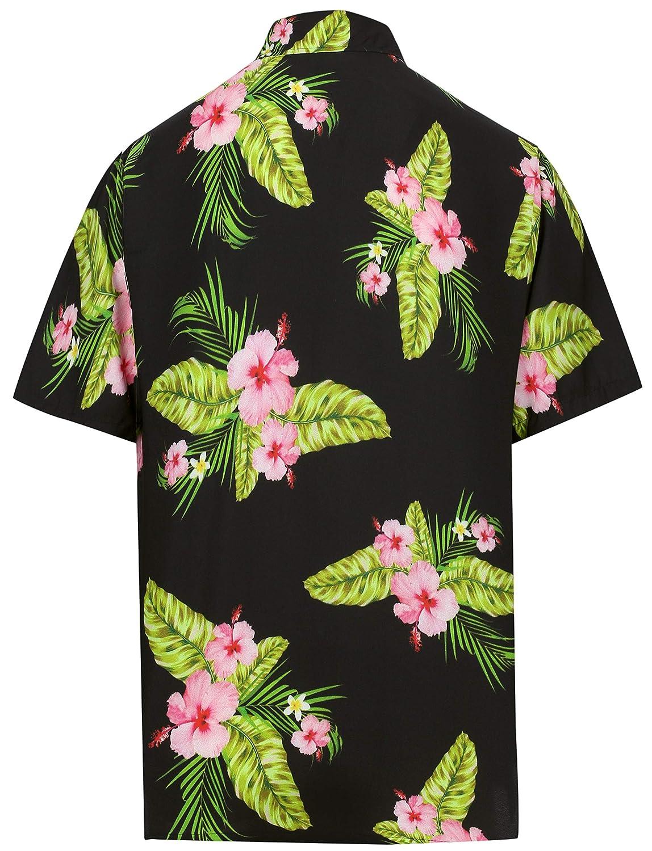 HAPPY BAY Everyday Essentials Mens Hawaiian Shirt Solid Plain