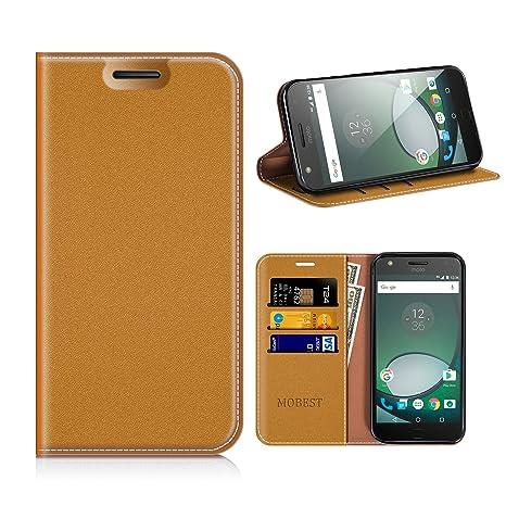 Funda Motorola Moto Z Play, Mobesv Funda Cuero, Carcasa en libro, Ranuras para Tarjetas, Soporte Para Motorola Moto Z Play - Marrón