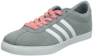 adidas neo - frauen courtset w grauen, weißen und rosa ftwr vista s15