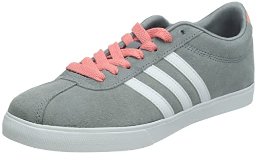 size 40 0ee52 a66ad adidas neo Women s Courtset W Grey, Ftwr White and Vista Pink S15 Leather  Sneakers -