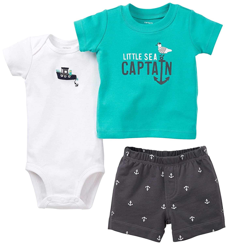 Carters Boys Baby Little Sea Captain Short Set