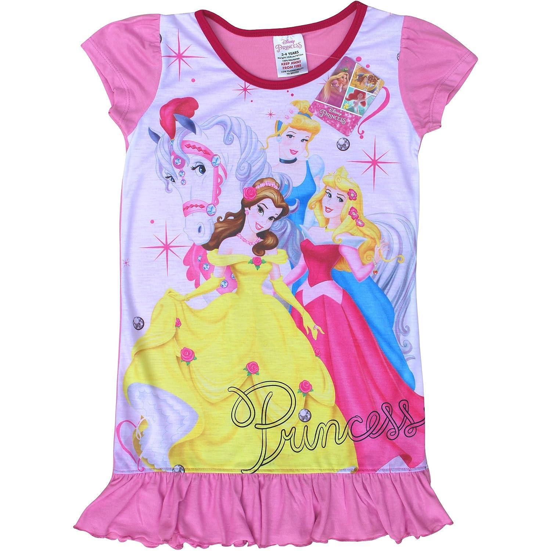 Disney Girl's Pink Princess Soft Sleep Nightie