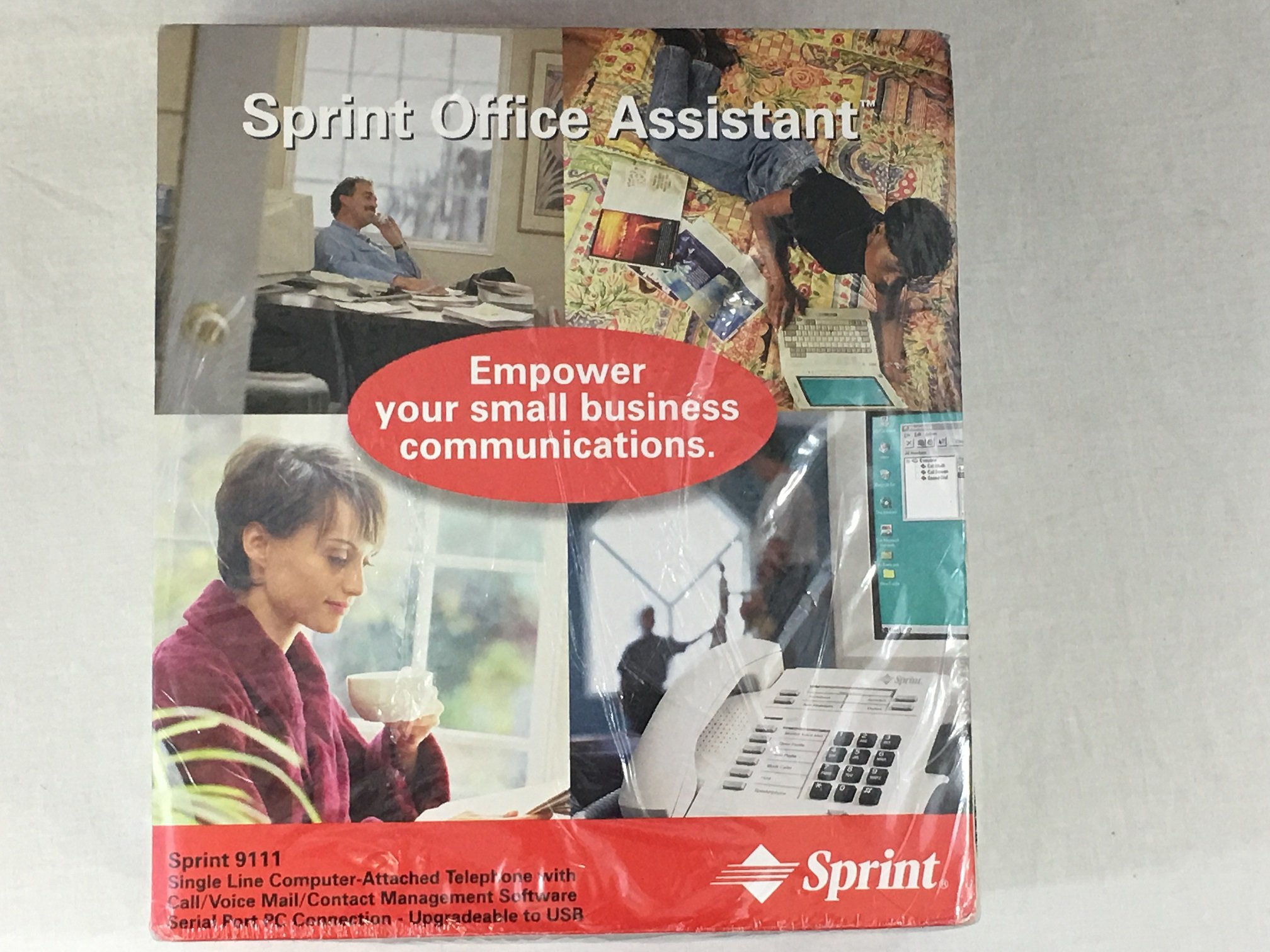 1993 Vintage Sprint Office Assistant Single Line Computer Attached Phone System