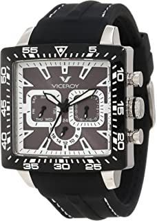 Viceroy Womens 432101-15 White black Square Rubber Date Watch