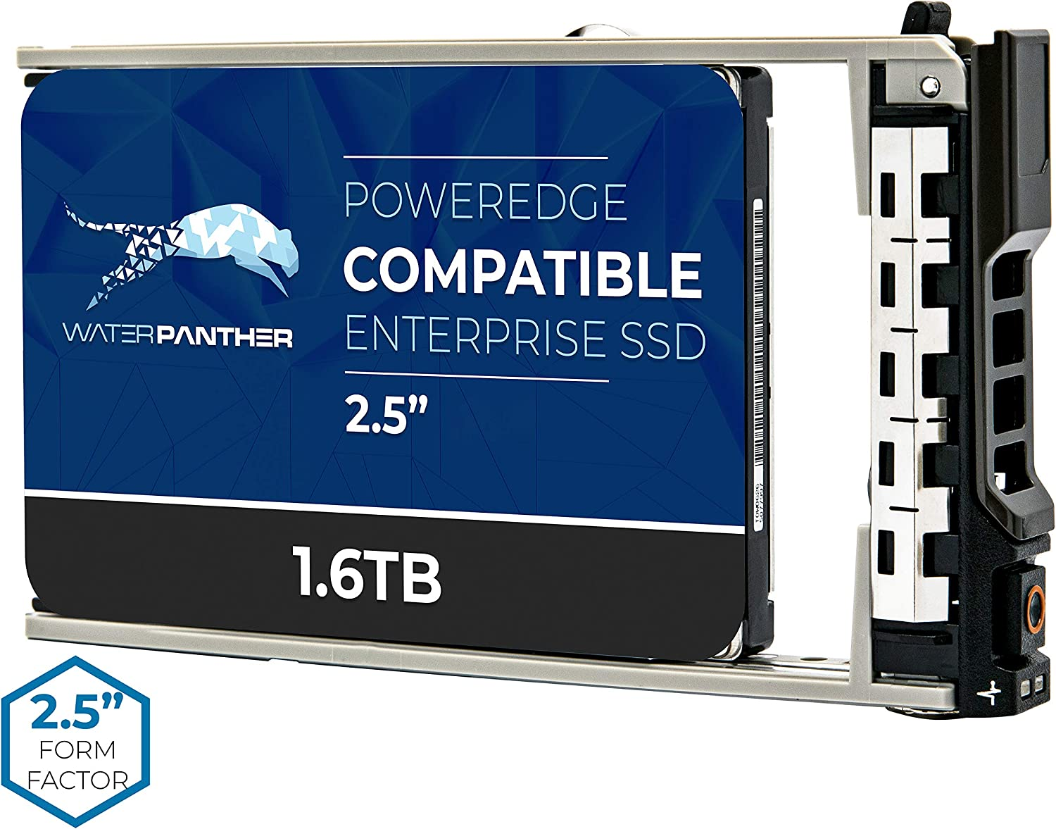 1.6TB SAS 12Gbps 2.5-Inch 15mm Enterprise SSD in 13G Tray Compatible with Dell PowerEdge Servers PM3 W5PP5 77K16 077K16 NF76W 0NF76W 400-AEJR 400-ALYR