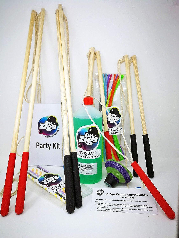 Pompas de jabón gigantes - Kit de Fiesta (Party Kit) - Dr Zigs Extraordinary Bubbles