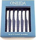Oneida Nocha 6 Cocktail Spreaders Stainless Steel