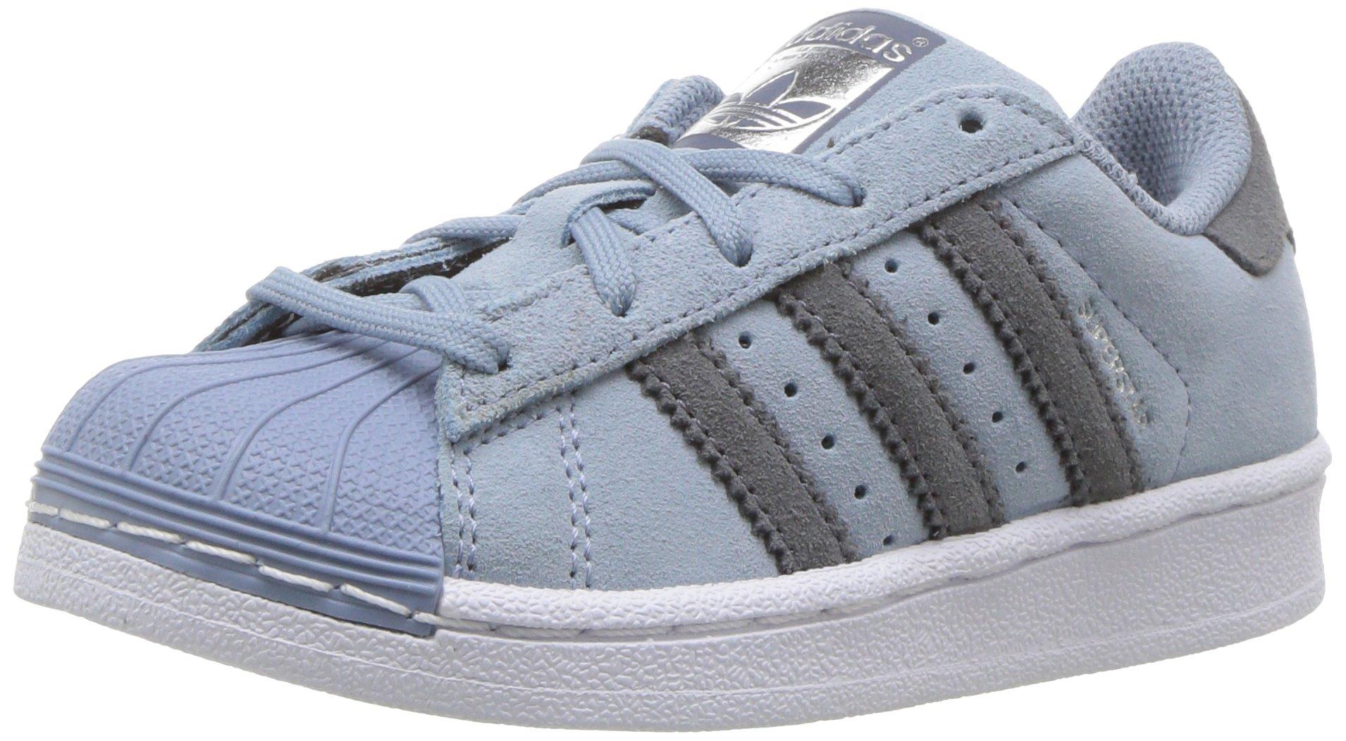 adidas Originals Boys' Superstar C Running Shoe, Tactile Blue Onix, 11 Medium US Little Kid