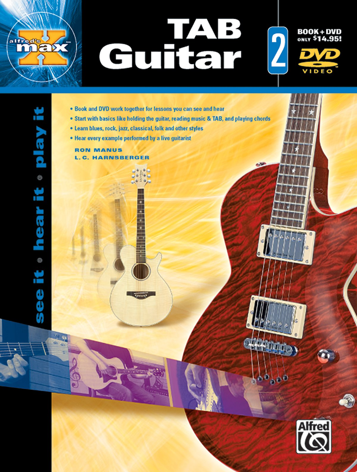 alfreds max tab guitar bk 2 see it hear it play it book dvd alfreds max series