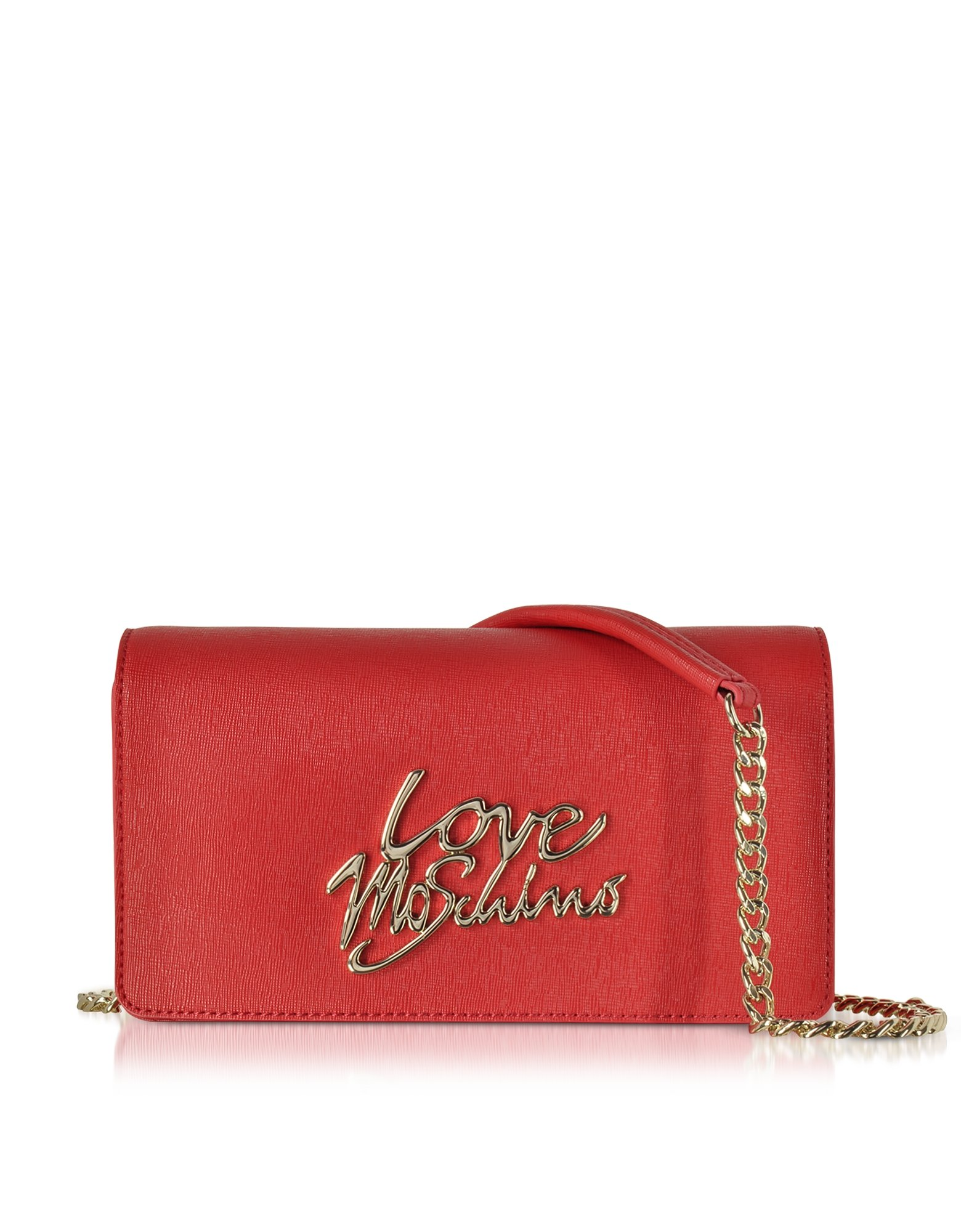 Love Moschino Women's Jc4047pp15le0500rosso Red Faux Leather Shoulder Bag