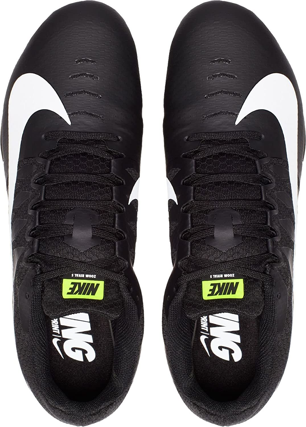 02bdcf94be0a Amazon.com | Nike Mens Zoom Rival S 9 Track and Field Shoes Black/White/2 D  | Track & Field & Cross Country