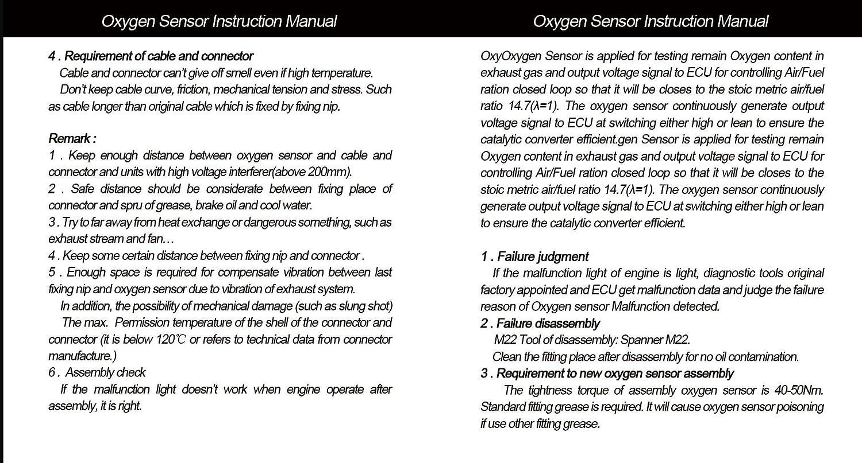 SANDAKI 13071 Oxygen Sensor Air Fuel Ratio O2 Sensor Lambda Sensor ...