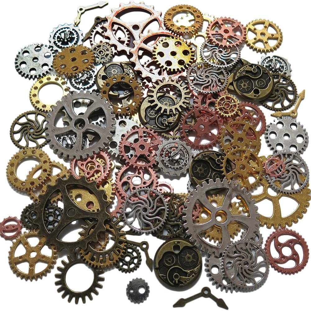 Jewellery Embellishment 20 or 40 Bronze safety pin charms Charms
