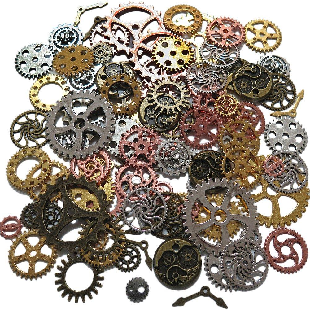 N'joy Steampunk Gear Cog Wheel,Alice in Wonderland Fairy Tales Tea Party 100PCS-Assorted Colors 4336819780