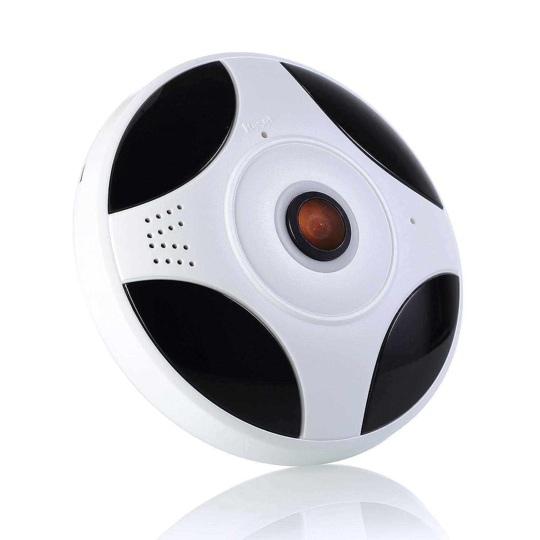 IMATEK Caméra IP HD 1080P, Caméra de Surveillance WiFi, Caméra fisheye panoramique à 360 degrés,Caméra Sécurité sans Fil avec Vision Nocturne Détection de Mouvement