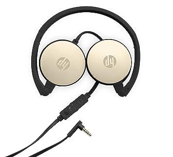 HP Auriculares estéreo H2800 - Auriculares con micrófono (PC/Juegos, Binaurale, Diadema, Negro, Oro, Giratorio, Alámbrico): Amazon.es: Informática