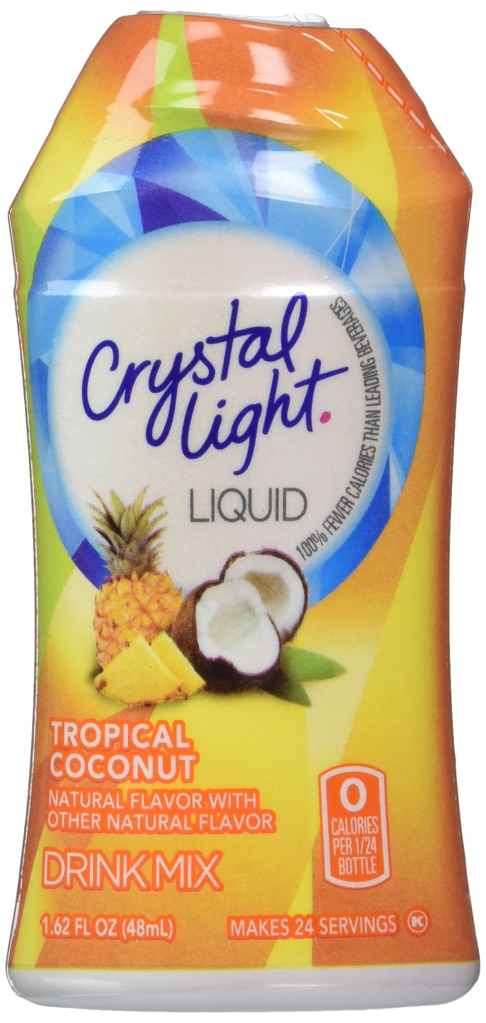 Crystal Light Liquid Tropical Coconut 1.62 OZ (Pack of 12)
