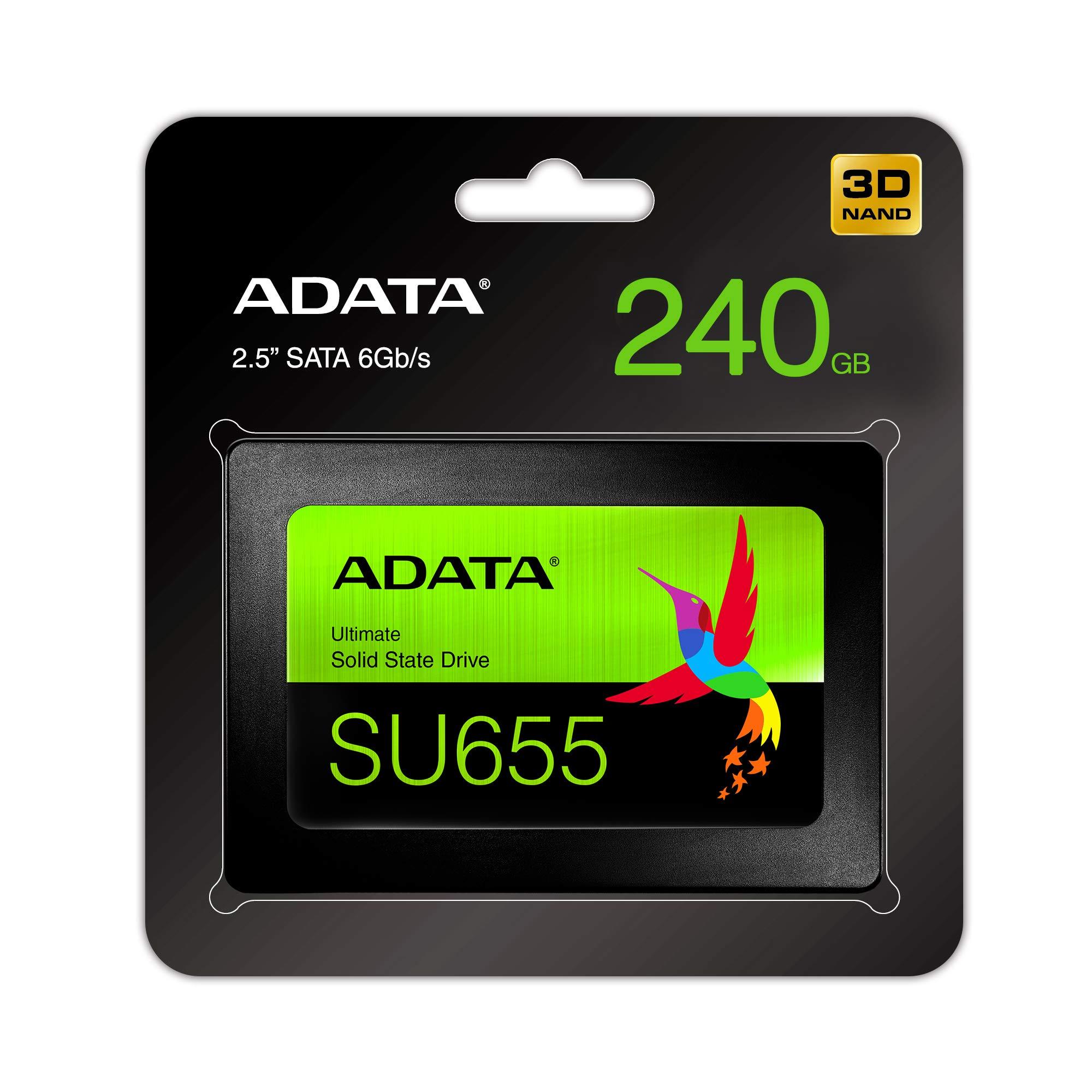 ADATA SU655 240GB 3D NAND 2.5 inch SATA III High Speed Read up to 520MB/s Internal SSD (ASU655SS-240GT-C) by ADATA (Image #4)