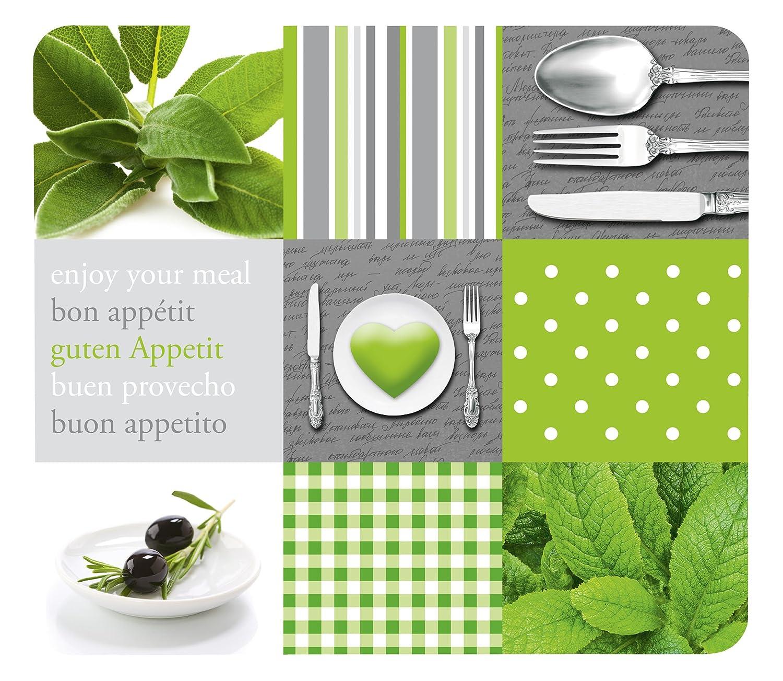 Wenko Cubierta Menu para Cocinas de Vitrocerámica, Vidrio, Multicolor, 56x50x4.5 cm 2712925100