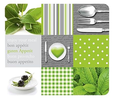 Wenko Cubierta Menu para Cocinas de Vitrocerámica, Vidrio, Multicolor, 56x50x4.5 cm