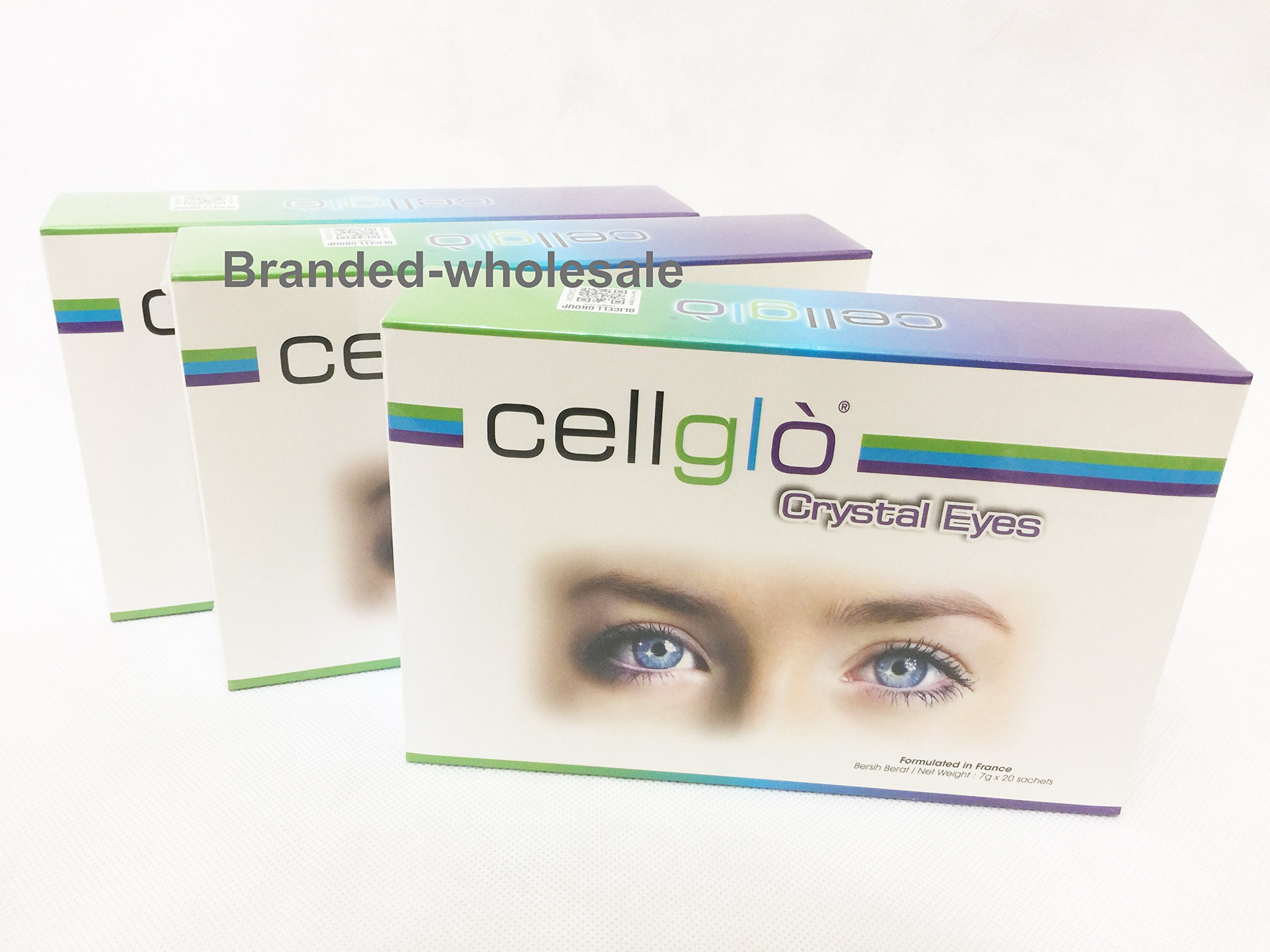 3 boxes Cellglo crystal eyes health vision care for eye carotenoid Lutein Astaxanthin