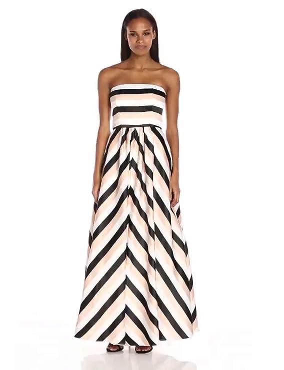 7cb8e29f520 Betsy   Adam Women s Chevron Stripe Ballgown at Amazon Women s Clothing  store