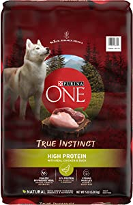 Purina ONE Natural, High Protein Dry Dog Food, True Instinct with Real Chicken & Duck - 15 lb. Bag