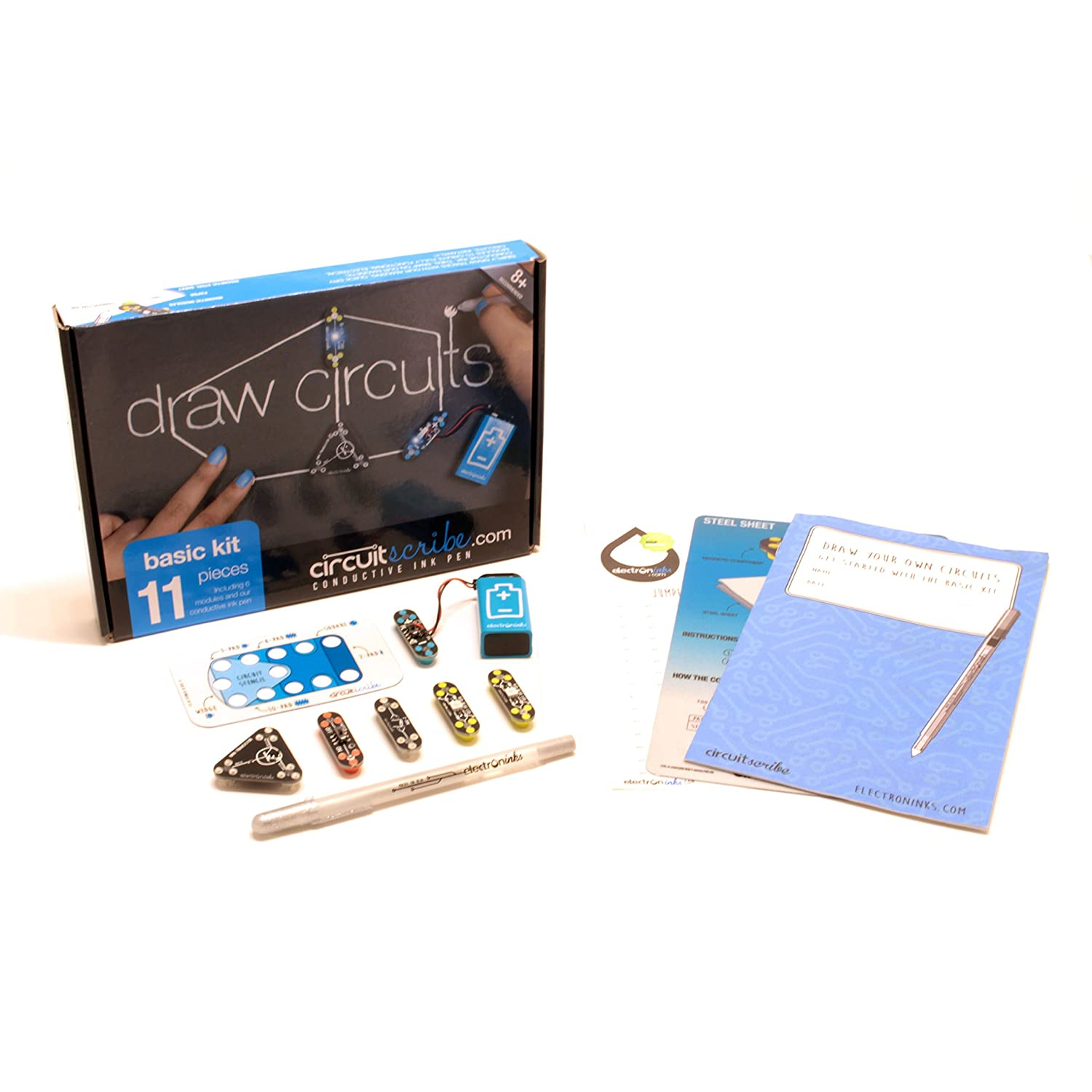 Circuit Scribe Basic Kit Includes Stem Workbook Return To Circuits Design Ideas Conductive Silver Ink Pen Learn Explore And Create Your Own Switches