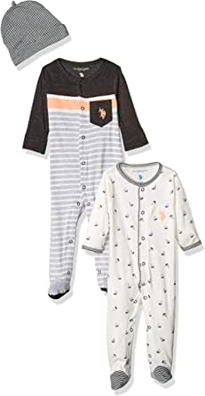 U.S. POLO ASSN. Baby Boy's Footie Pants