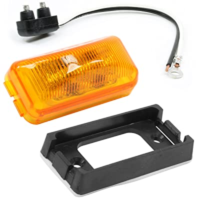 "Vehicle Safety Manufacturing 1561AK Amber 2.5"" Rectangular 4-Diode LED Lamp Kit (Amber Lens): Automotive"