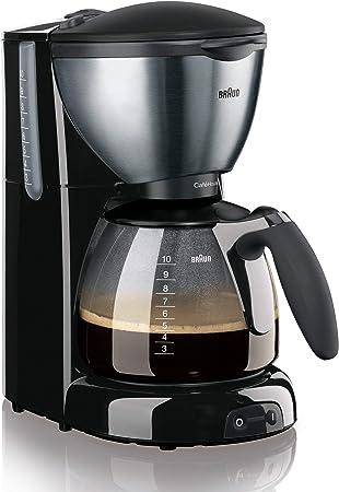 Braun KF 570/1 Cafetera de goteo, semi-automática, independiente, 1100 W, acero inoxidable, negro y plateado: Amazon.es: Hogar