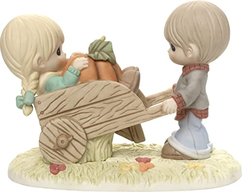 Precious Moments I Picked The Best One Couple with Wheelbarrow Bisque Porcelain Figurine 179015