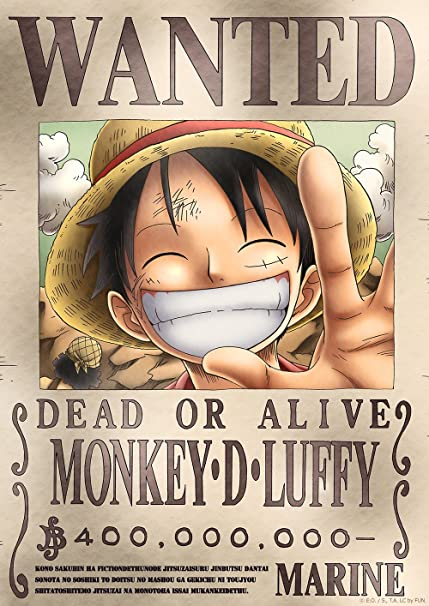 Tokiwa Corporation Anime One Piece Official Licensed Wanted Poster New World Posters Prints