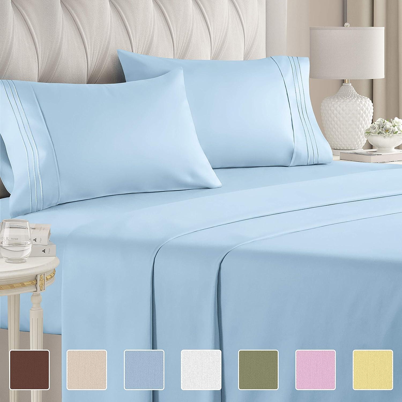 TWIN XL EXTRA LONG DORM ROOM BED SIZE SUPER SOFT DEEP POCKET SHEET SET on SALE!