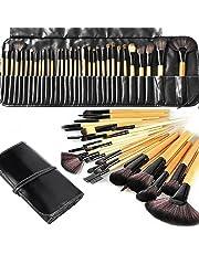 Makeup Brushes, Makeup Brush Set, MONOLED 32 PCS Natural Synthetic Bristle Wooden Handle Cosmetics Foundation Eyeliner Mascara Eyeshadow Face Powder Blush Lipstick Makeup Brush