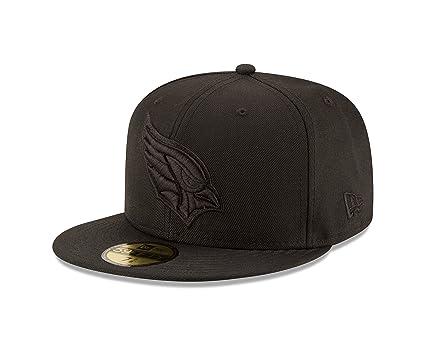 New Era NFL Arizona Cardinals Men s Black On Black 59Fifty Fitted Cap 62ae0ccc45d1