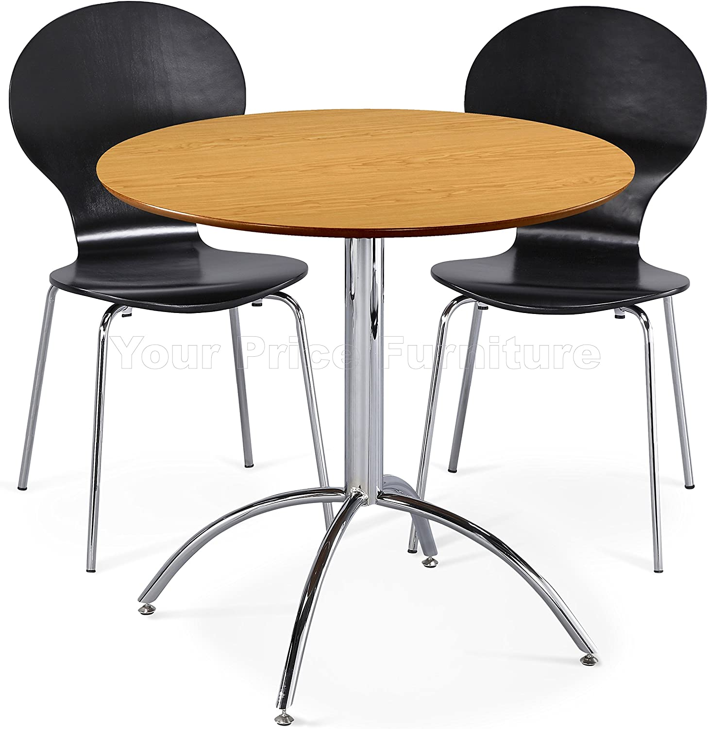Black or Natural White Table /& 4 Black Chairs Red Kimberley Dining Set Table and 4 Chrome Metal Keeler Style Stackable Dining Chairs White Green Kitchen Cafe Bistro Chairs /& Small Round Table