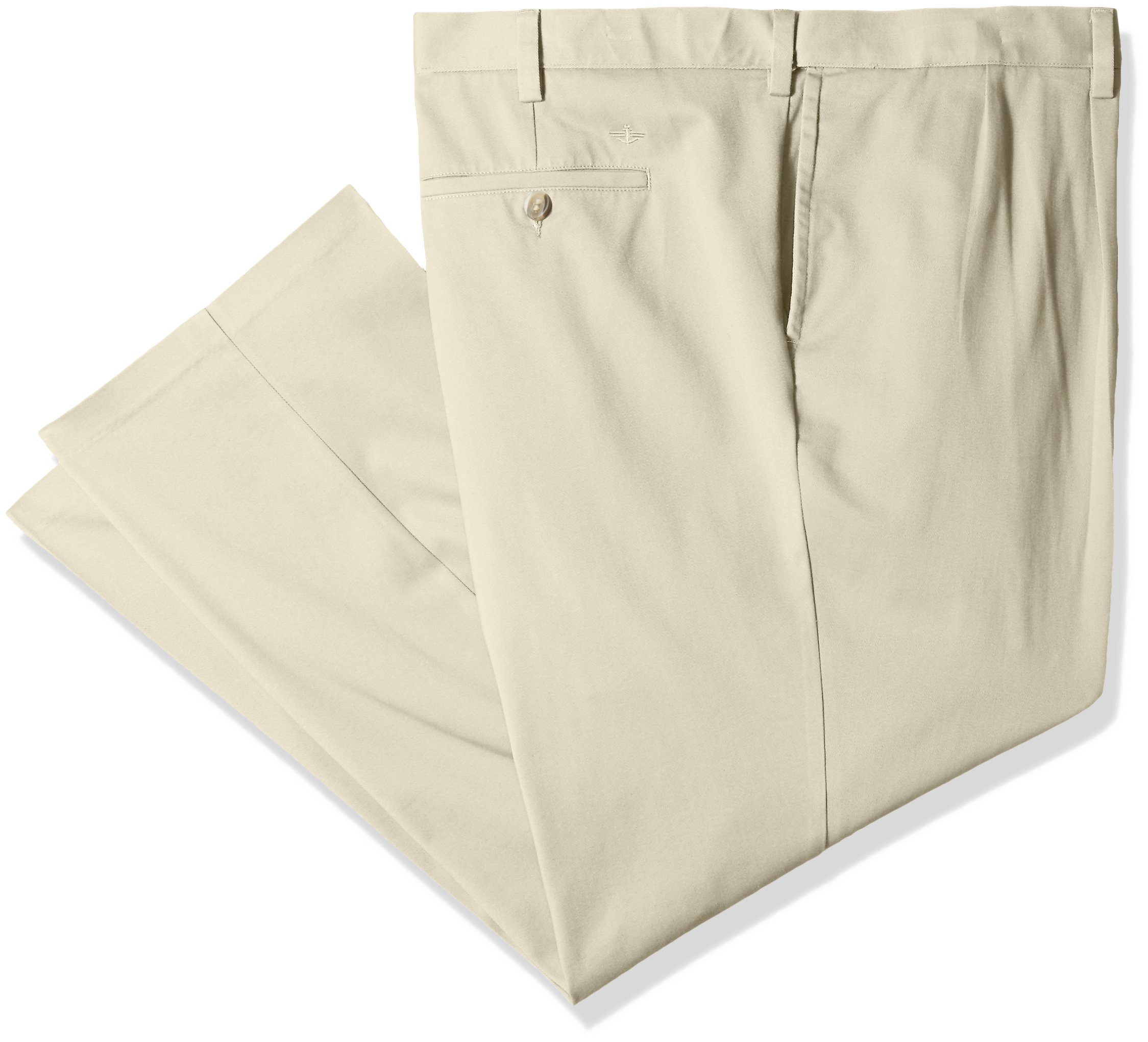 Dockers Men's Big and Tall Classic Fit Easy Khaki Pants - Pleated, Cloud (Stretch), 48 29